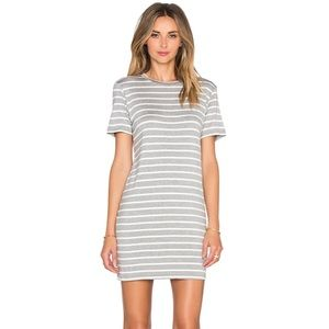 Amour Vert Grey Stripe BRIGETTE T SHIRT DRESS S